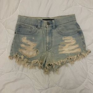 High Waisted Distressed Shorts!!